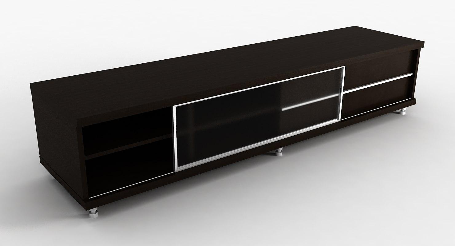tv unit 3d max