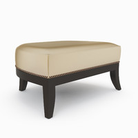mulholland ottoman 9876 powell 3d model