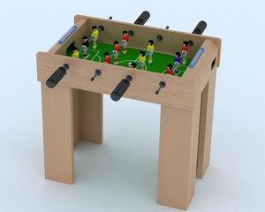 3d model football table
