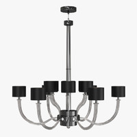 3d model of donghia fontana chandelier