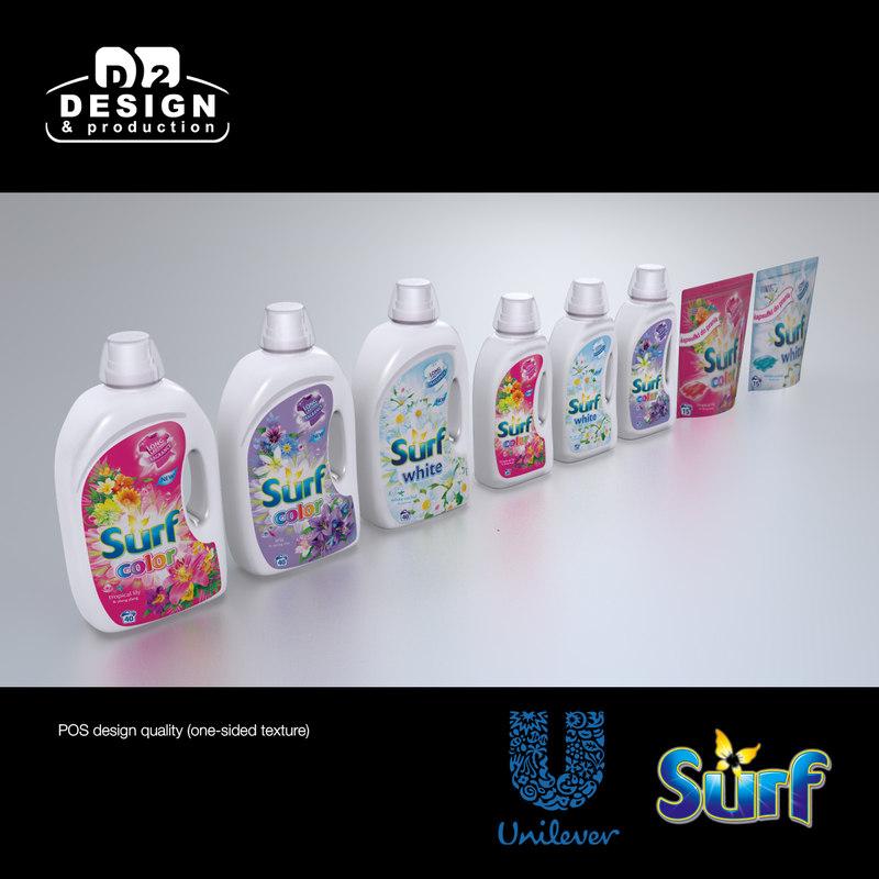 unilever surf products 3d model