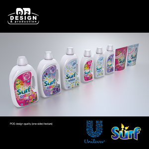 unilever surf products 3d x