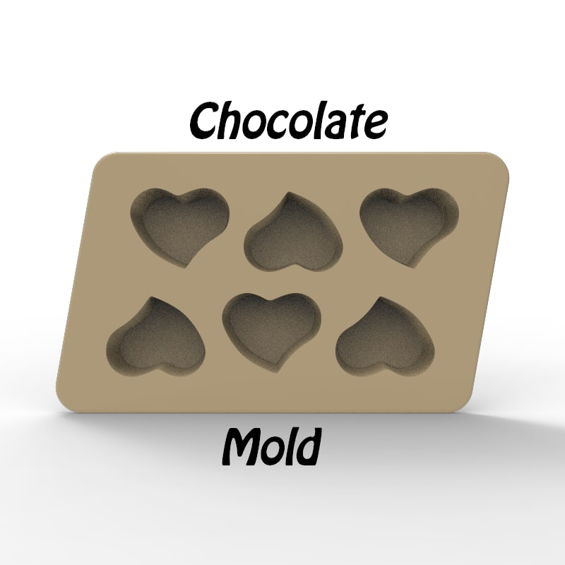 3d chocolate mold