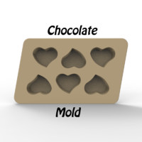 3d chocolate mold