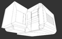 futuristic living module 3d model