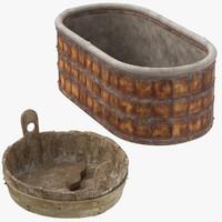 3d 2 medieval wash tub model