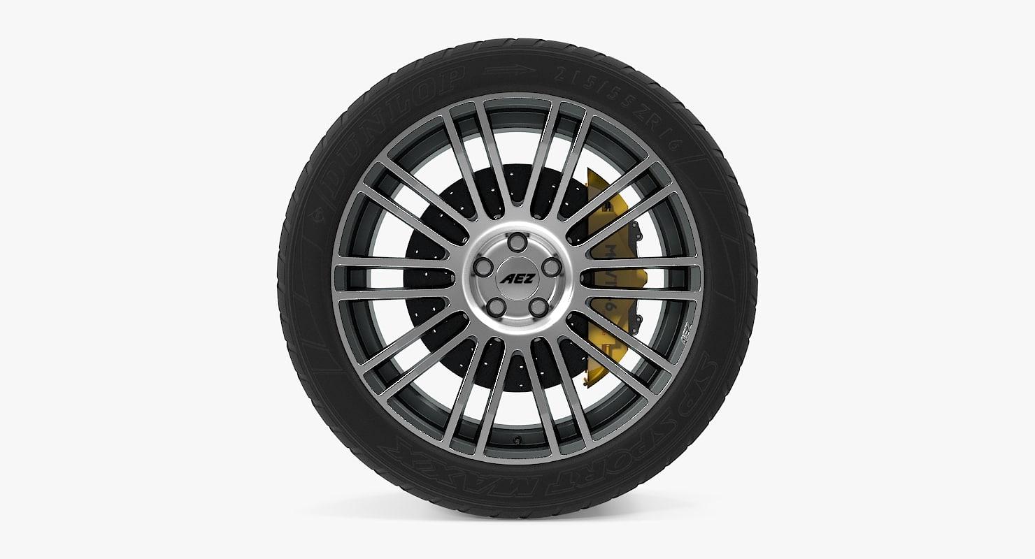 3d strike disk car wheel
