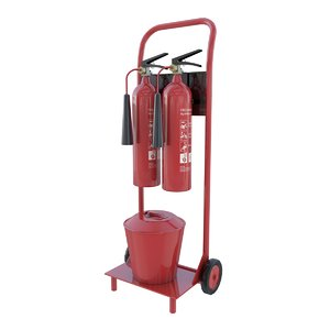 extinguisher trolley 3d 3ds