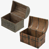 2 medieval chests 3d obj