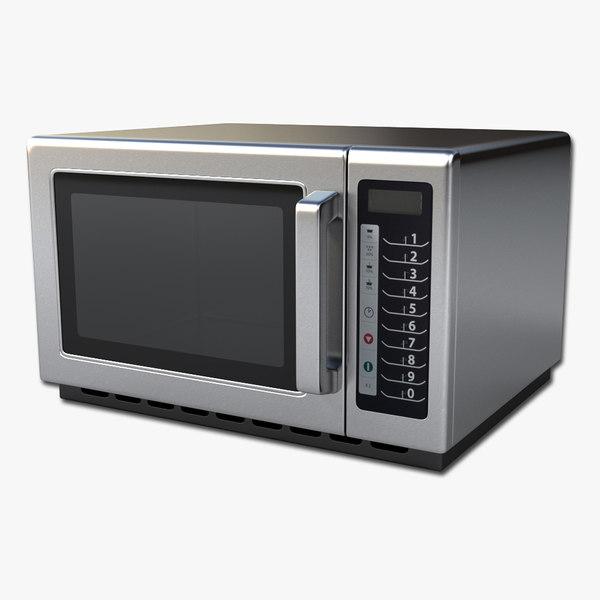 commercial microwave 3d model