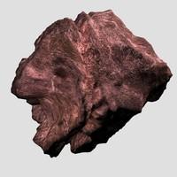 rock 6 type boulder 3d model