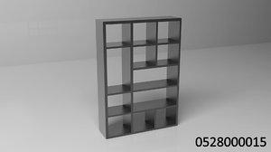 3d model bookcase book