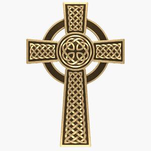 3d model celtic cross