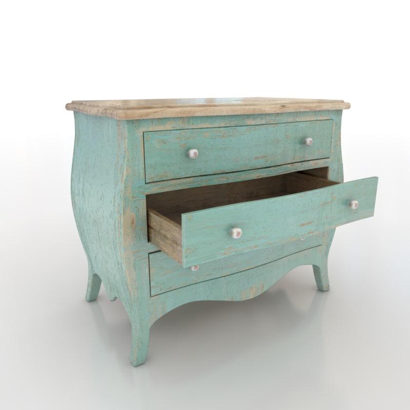 shabby drawers 3d max