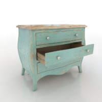 shabby drawers 3d max