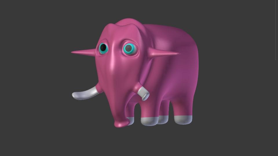elephant basic 3d obj