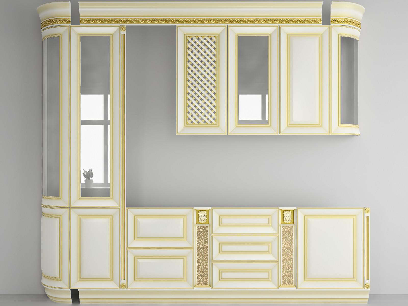 3d kitchen facade model