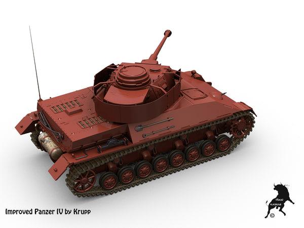 krupp improve panzer iv 3d max