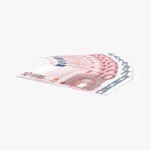 3d 10 euro bill edge
