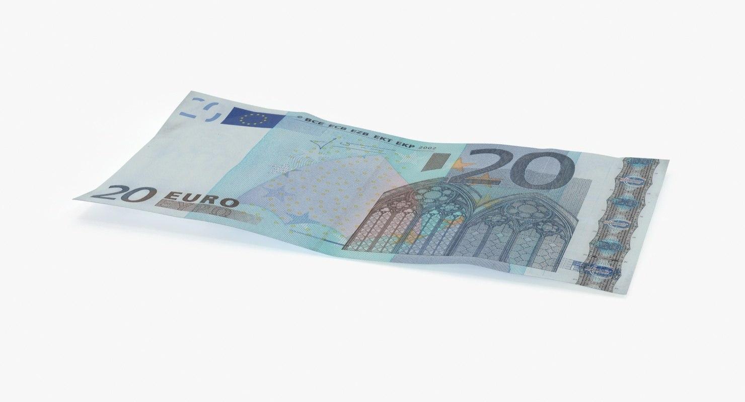 max 20 euro bill single