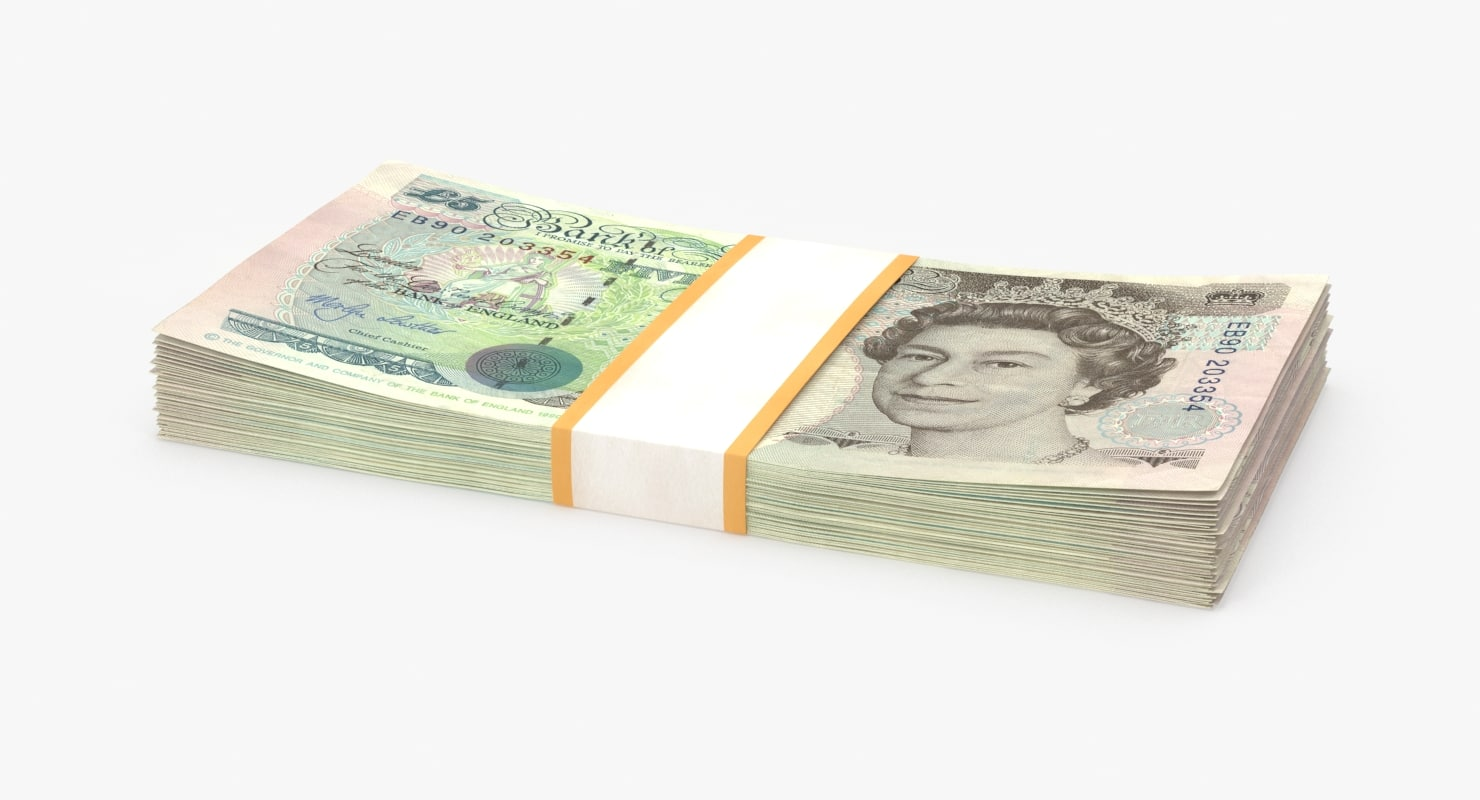 5 pound note pack max