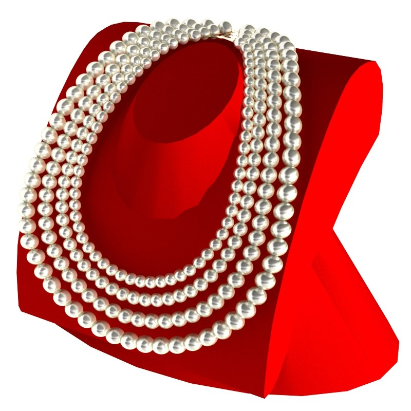 max jewelry necklace pearls