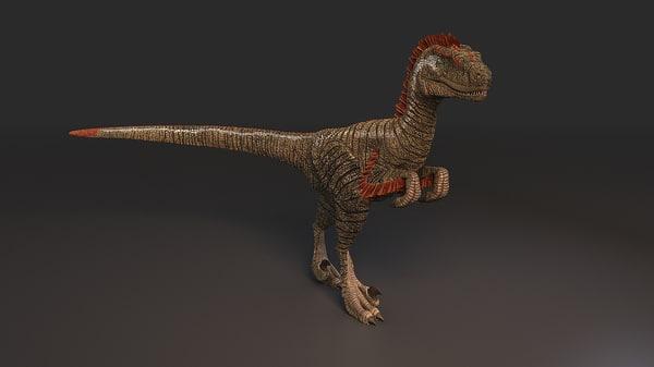 3d model feathered dinosaur