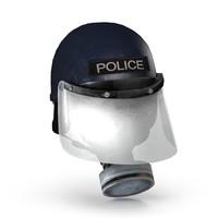 3d helmet police riot