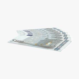 max 5 euro bill fanned