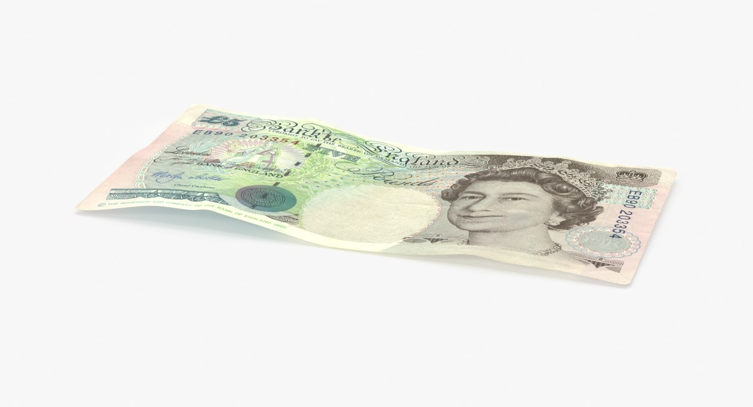 3d 5 pound note single model