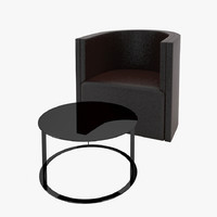 3d model simply armchair conference table