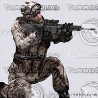 3d model soldier blender