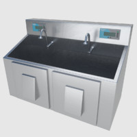 scrub sink - 3d model