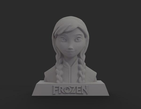 3d model frozen anna