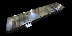 free prison tunnel 3d model