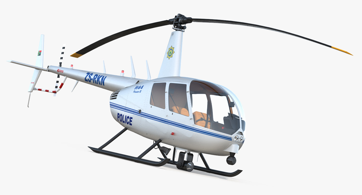 police helicopter robinson r44 obj