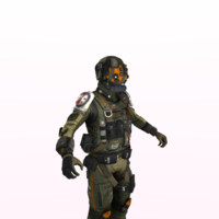 3d science fiction soldier