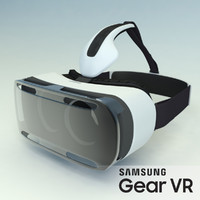 virtual headset samsung gear 3d model