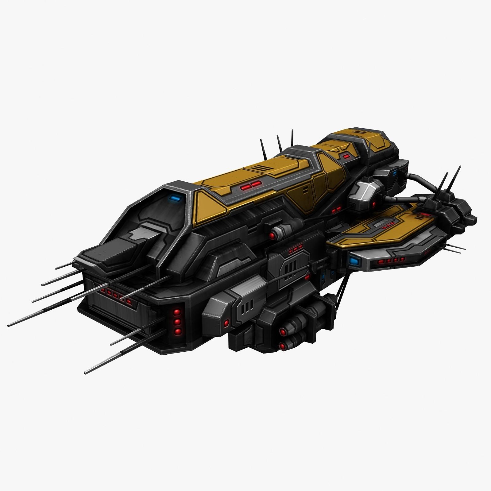 3d model of civilian spaceship