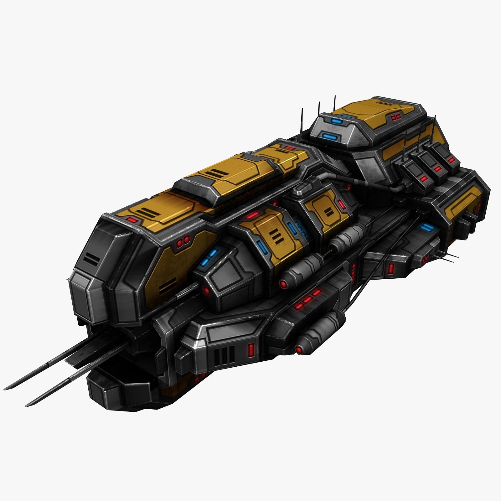 3ds max civilian spaceship