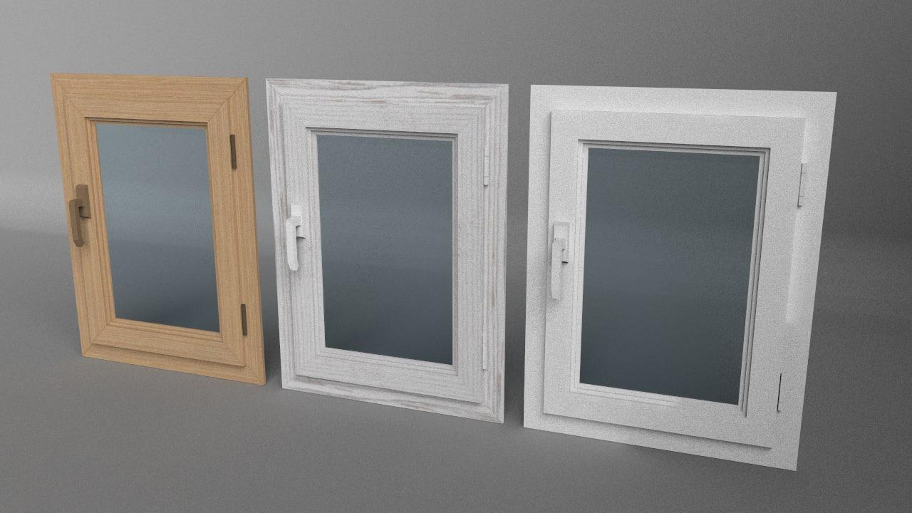 3d model of windows simple