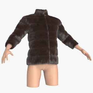 3d fur clothing mannequin model