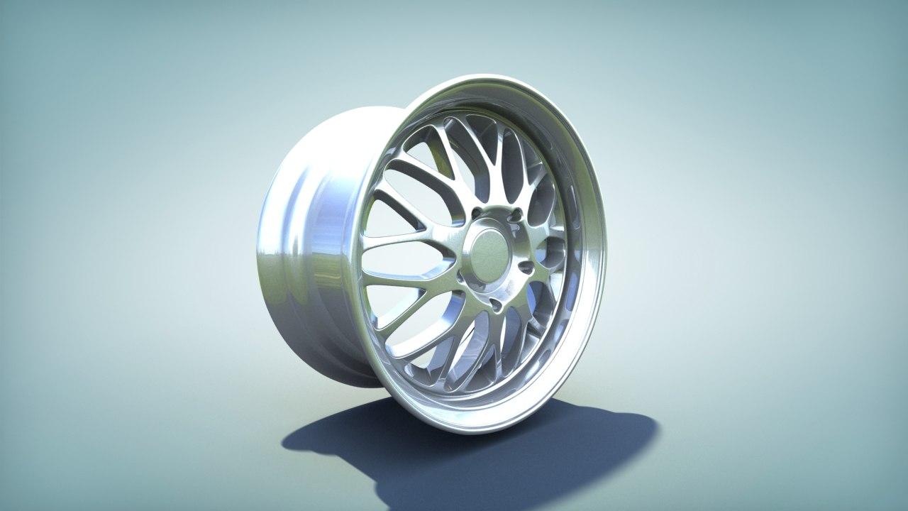 3d model bbs rim carbon sport