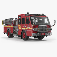 Fire Apparatus E One Quest Seattle 3D Model