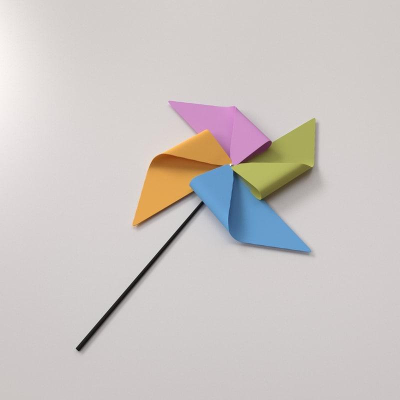 3d model pinwheel pin wheel