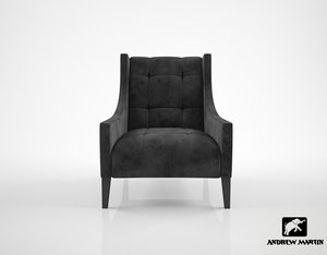 andrew martin milton chair 3d max