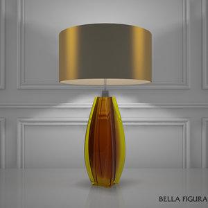 3d model bella figura diamond curved