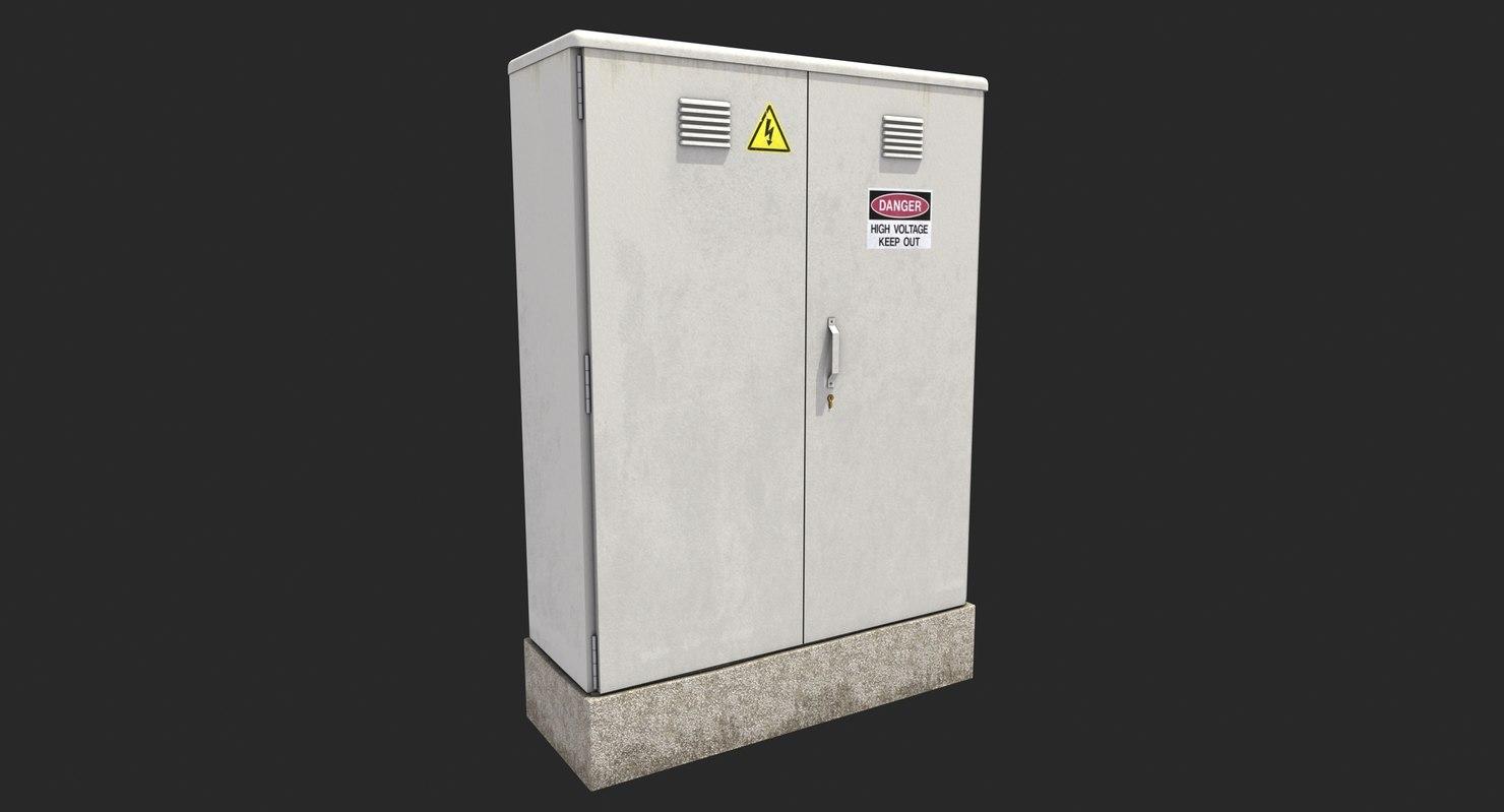 Street Electrical Fuse Box 3d Model