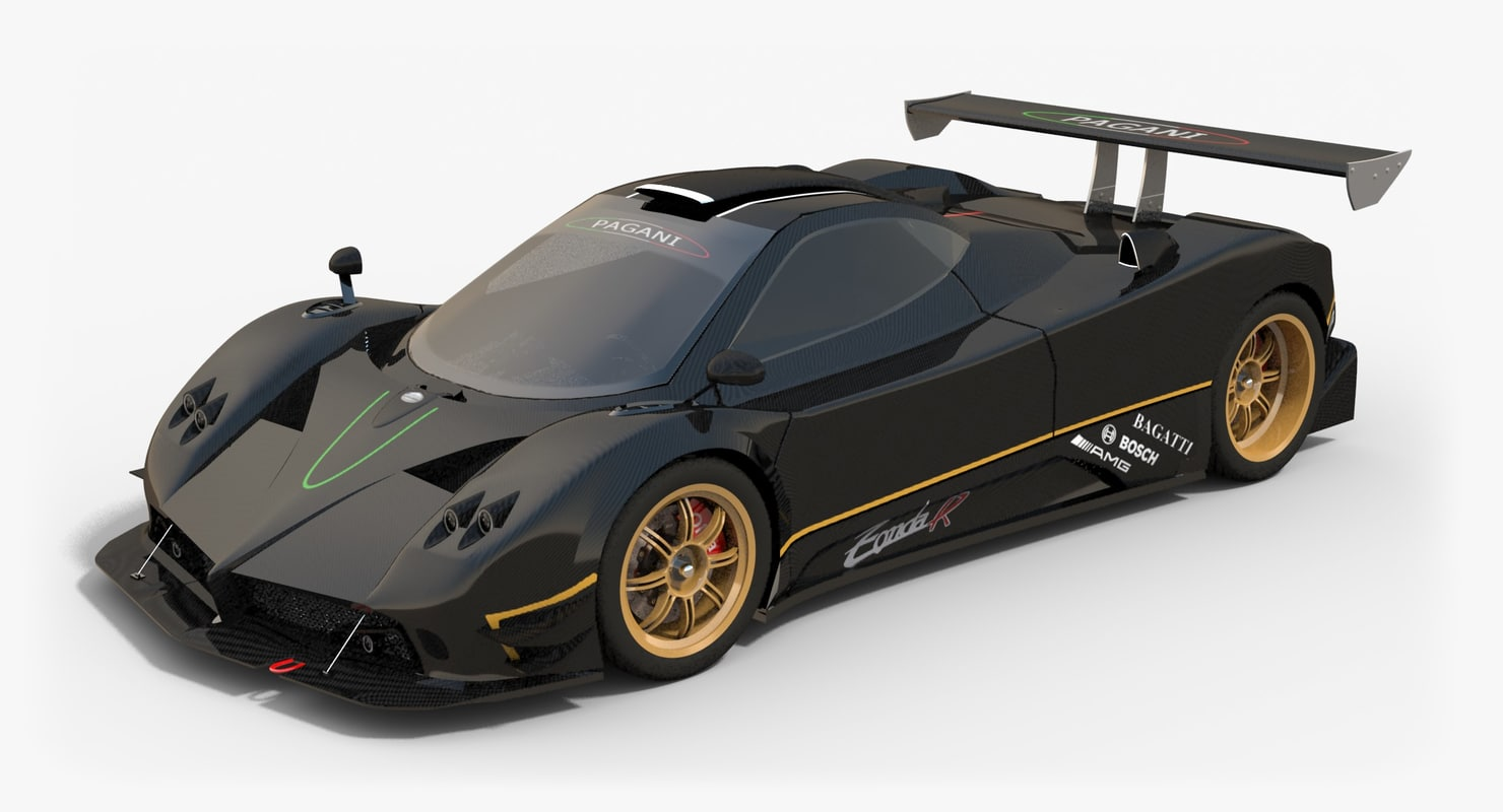 3d pagani zonda r. Black Bedroom Furniture Sets. Home Design Ideas