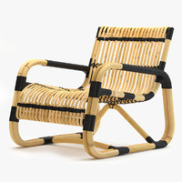 cane-line curve lounge chair 3d model
